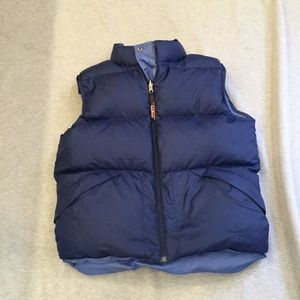 LL Bean reversible down vest